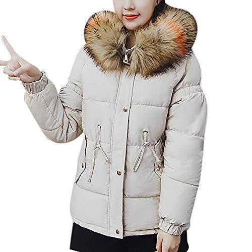 BBestseller Mujeres Moda Suelto Caliente Hooded Chaqueta Corta de algodón con Capucha y Cuello Largo de Piel Invierno Sweatshirts Abrigo: Amazon.es: Ropa y ...