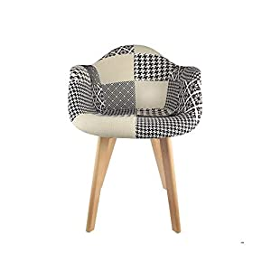The concept factory Fauteuil scandinave Patchwork