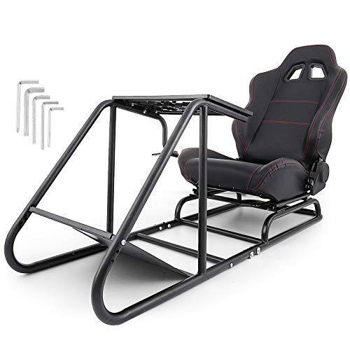 Mophorn Racing Simulator Cockpit Driving Gaming Seat Gear Shift Mount PS3/4 Xbox Logitech G29 G920 PC Foldable Racing Chair Racing Wheel Stand Driving Gaming Chair (Adjustable02)