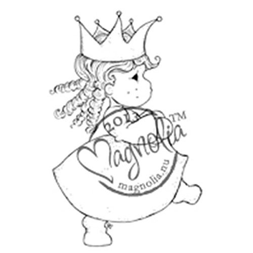 Magnolia Once Upon a Time Cling Stamp, 5.5 by 3.75-Inch, Tilda with Corkscrews by Magnolia