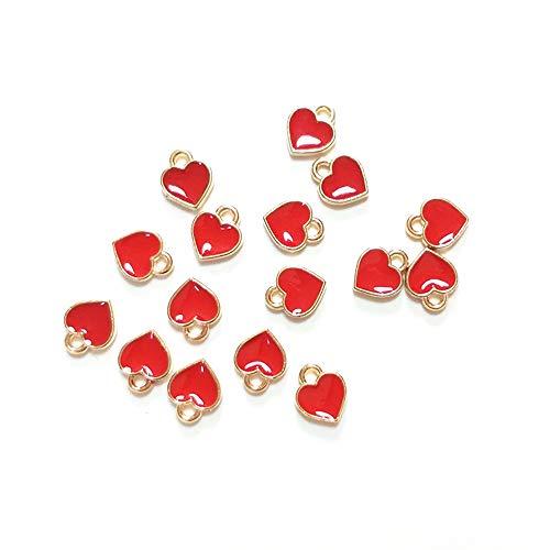 100pcs DIY Jewelry Accessories Drops Heart Pendant Necklace Pendant Bracelet Beads Accessories(2)