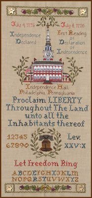 - Let Freedom Ring Cross Stitch Chart