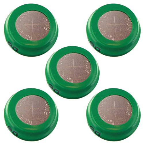 - 5pc Button 80mAh Rechargable 1.2V NiMH Flat Top Batteries for use with high power static applications (Telecoms UPS and Smart grid) radio controlled devices electric tools electric mopeds USA SHIP