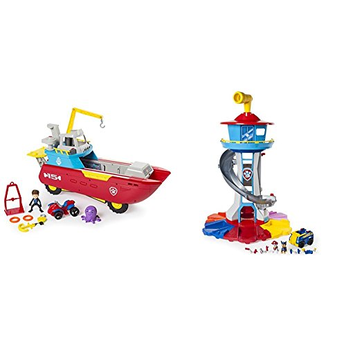 ller Transforming Vehicle with Lights and Sounds with Paw Patrol My Size Lookout Tower with Exclusive Vehicle, Rotating Periscope and Lights and Sounds Bundle ()