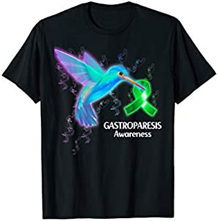 GASTROPARESIS Awareness Humming Bird Ribbon Hope T-shirt | Size S - 5XL