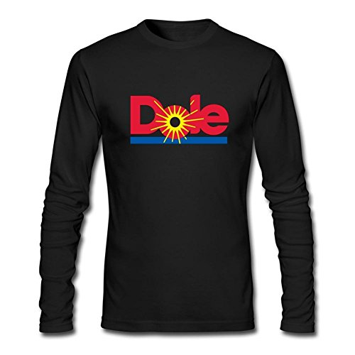 TIANRUN Men's Dole Logo Long Sleeves T-shirt Size M