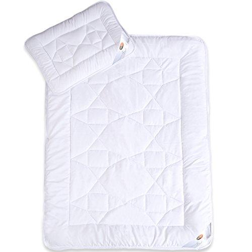 CelinaTex 0002430 | First Class 4-Jahreszeiten Kinder-Bettdecken-Set | weitere Decke wählbar | Mikrofaser Baby-Steppdecke 100 x 135 cm inkl. 1x Kopfkissen 40 x 60 cm