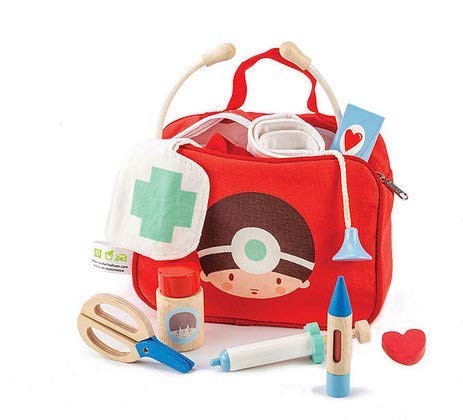 12 Pc Medical Bag Set - Doctor and Nurse Pretend Play Toy Medical Kit - Made with Premium Quality Materials - Promotes Imaginary and Creative Roleplay, Helps to Create Health Awareness - Ages 3+ by Tender Leaf Toys (Image #7)