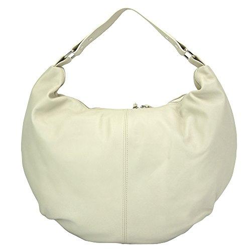 Hobo Genuine Bag Shoulder And Leather Beige 3017 Duomo q7O84x1