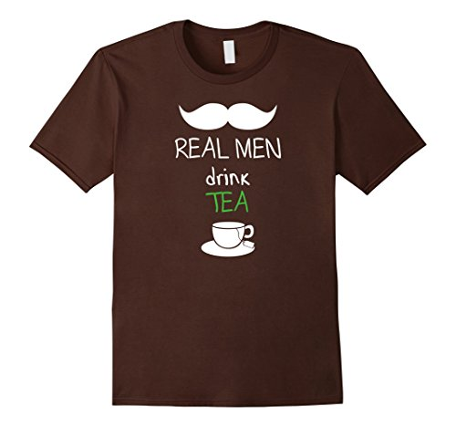 Men's Real Men Drink Tea Shirt - Manly Man Shirt Medium - Manly Mall