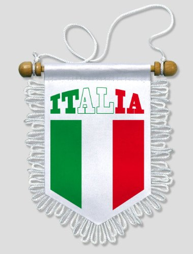 KOO Interactive , Fanion Voiture Italie Italia , 13 x 15 cm , Blason  Ecusson Football Amazon.fr Auto et Moto