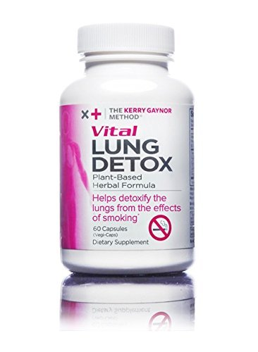 The Kerry Gaynor Method Vital Lung Detox - Plant-based Herbal Formula to Cleanse Body From Harmful Effects of Years of Smoking - 60 Capsules/bottle - 1-month Supply
