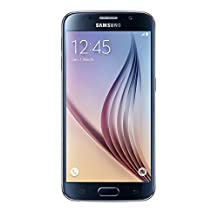 Samsung Galaxy S6 32GB 4GLTE Unlocked Smartphone Import, Black, Retail Packaging