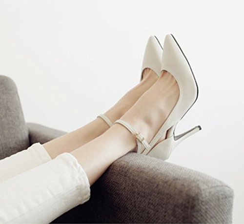 A Lady Elegant Shoes 9Cm Heels MDRW Spring White Leisure The Wedding Shoes 38 Shoes With Work Fine Hollow Bandage zpwRndwq