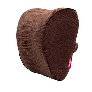 1pair Coche Reposacabezas Almohada asiento cuello resto almohada reposacabezas cuello pillow-brown