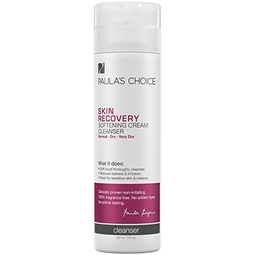 Paula's Choice SKIN RECOVERY Cream Cleanser, 8 Ounce Bottle for Extra Sensitive, Redness and Rosacea Prone Skin, Normal to Very Dry Facial Skin