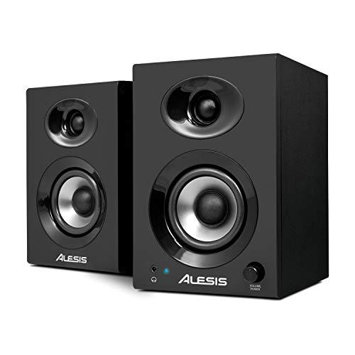 alesis elevate 4 40 watt 4 powered desktop studio speakers with bass boost sub output front. Black Bedroom Furniture Sets. Home Design Ideas