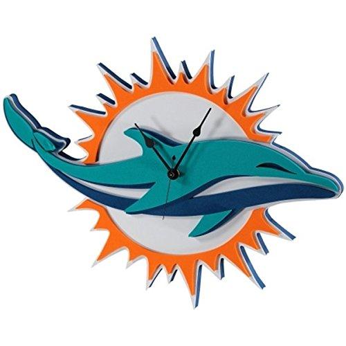 NFL Miami Dolphins 3D Foam Wall Clock ()