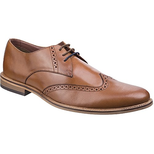 Lambretta Mens Franky Brogue King Lace Up Brogue Oxford Smart Shoes Tan