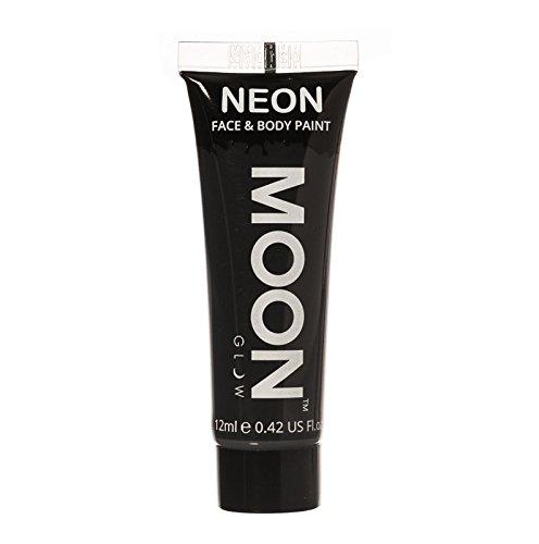 Moon Glow - Neon UV Körperfarben Bodypaint - 12ml Schwarz
