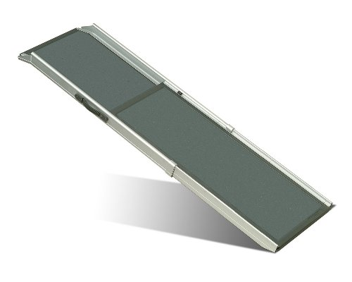 PetSafe Solvit Deluxe Telescoping Pet Ramp, Standard, 39 in. - 72 in., Portable Lightweight Aluminum (Deluxe Pet Stairs)