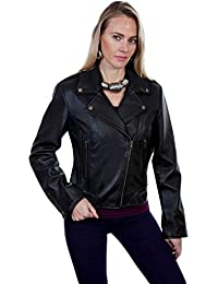 Womens Cosette Concealed Carry Leather Moto Jacket