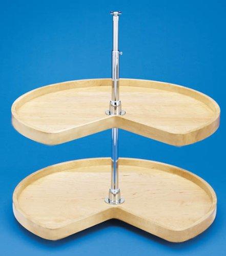 - Rev-A-Shelf - 4WLS472-32-52 - 32 in. Wood 2-Shelf Kidney Shape Lazy Susan Set