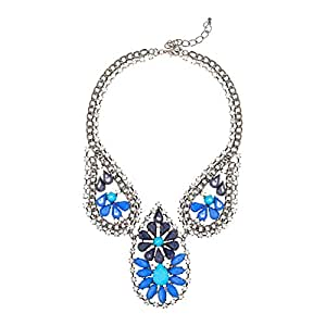 Just Showoff Women's Alloy 3 Drop Of Blue Necklace