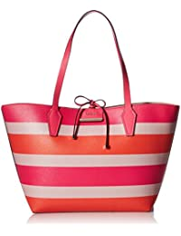 GUESS Bobbi Inside Out Tote-Sunset/Nude