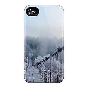 AbbyRoseBabiak Premium Protective Hard Cases For Iphone 6- Nice Design - Frozen Suspension Bridge