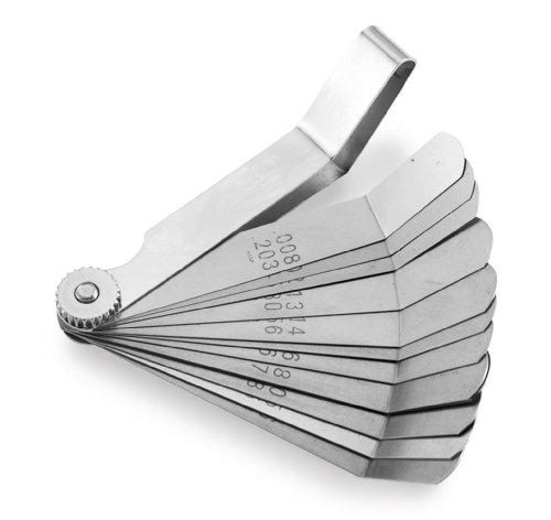 BikeMaster 12-Blade Combination Tappet & Feeler Gauge Set Engine Tool Accessories - Polished (Feeler Tappet Gauge)