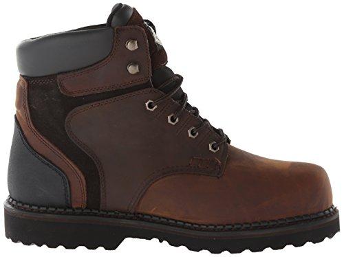 Georgia Bota Hombres Brookville Zapato De Trabajo De 6 Pulgadas Marrón Oscuro