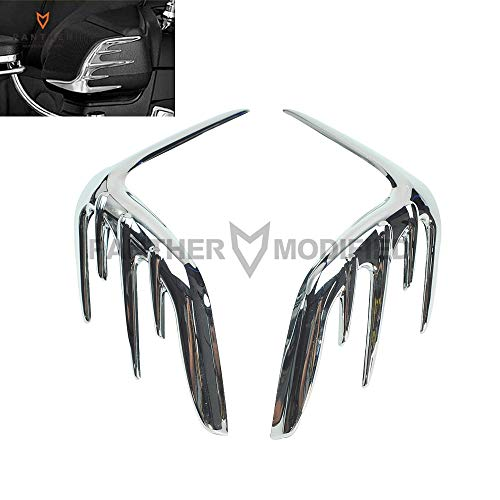 Wincom Dishman Automobiles & Motorcycles Chrome Motorcycle Passenger Speaker Outer Trim Case for Honda Goldwing Gl1800 2006-2015 2007 2008 2009 2010 2011 2012 2013 2014