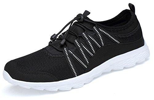 Belilent Scarpe Da Corsa Da Donna - Sneakers Sportive Traspiranti Leggere E Traspiranti Sneakers Moda Nero / Bianco-073