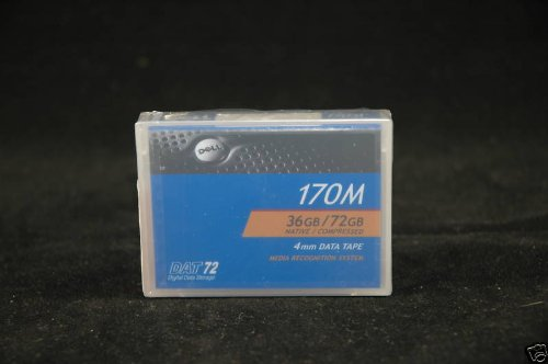 Dell 0W3552 - DAT 72, 4mm Data Cartridge Tape, DDS-5, 170m, 36/72GB by DELL - IMSOURCING