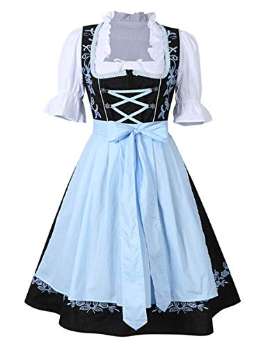 Evaliana Oktoberfest Waitress Party Dress German Bavarian Beer Wench Carnival Halloween Costume Maid Outfit