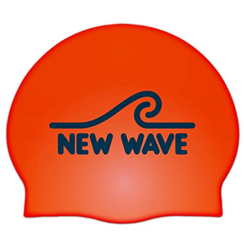 New Wave Swim Buoy Silicone Swim Cap (Orange)