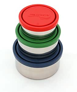 U Konserve - Nesting Trio, Perfect for Lunches or Picnics, Reduce Waste, Dishwasher Safe (Round, Ocean)