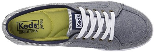 Keds Dames Vollie Chambray Sneaker Donkerblauw