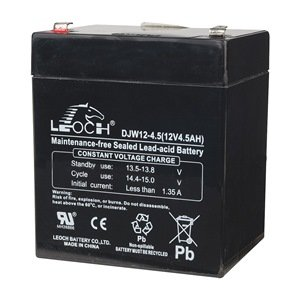 Battery, Sealed lead acid, 12V, 4Ah, Spade
