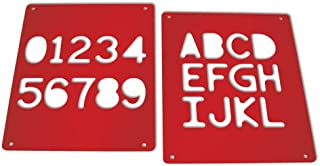 product image for TAG CSM4E Upper Case Alphabet Templates