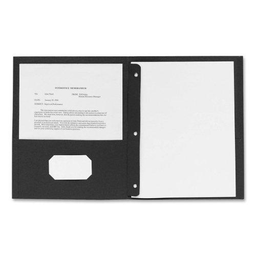 Business Source Pocket Portfolios/Folders File Jacket and Pocket, Black (78532)