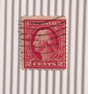 Postage Stamp George Washington 2 Cents 1917