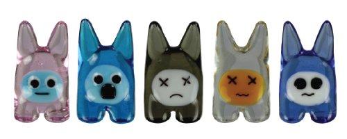GlassWorld Miniature Collectible BunEEz Miniature Toy Figure, 5-Pack (Assortment 1)