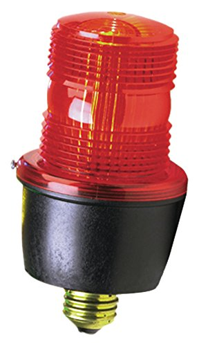 Federal Signal LP3E-120R Streamline Low Profile Strobe Light, 120 VAC, Edison A-19 Screw-In Base, Red