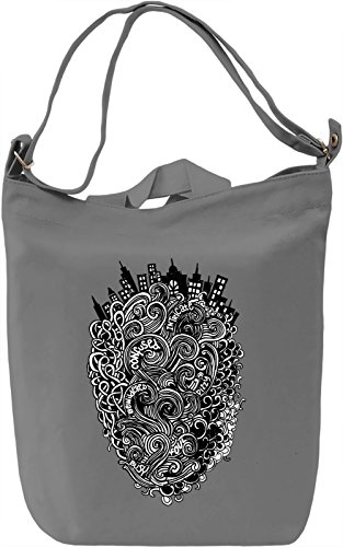 Doodle city Borsa Giornaliera Canvas Canvas Day Bag| 100% Premium Cotton Canvas| DTG Printing|