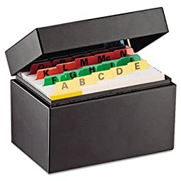 MMF263534BLA - MMF Index Card File Holds 300 3 x 5 cards