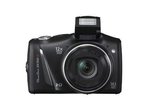 Canon PowerShot SX150 IS 14.1 MP Digital Camera with 12x Wide-Angle Optical Image Stabilized Zoom with 3.0-Inch LCD (Black) (OLD MODEL) by Canon (Image #3)