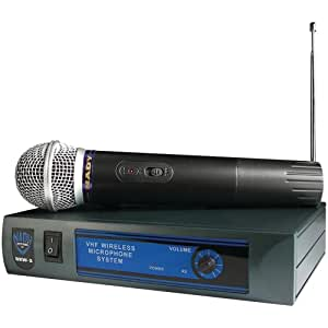 Nady DKW-3 HT VHF Wireless Handheld Microphone System - includes microphone, AC adapter and audio cable - Easy setup - Karaoke, performance, presentation, public address