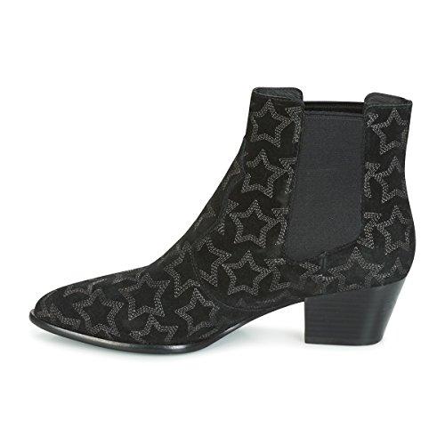Ash Schuhe Hope Star Boots aus Wildleder Schwarz Damen Schwarz
